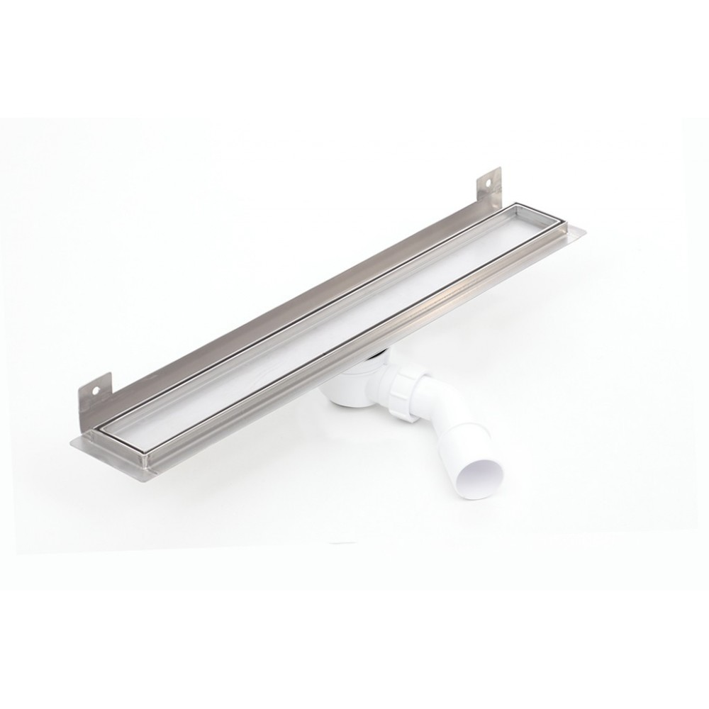Nástěnný sprchový odvodňovací žláb Silver pro obklad 800 mm