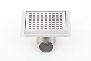 Podlahová vpusť 100x100, nerezový sifon