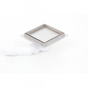 Podlahová vpusť 100x100 pro obklad, plastový sifon